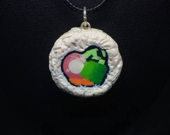 Sushi Necklace Charm Polymer Clay