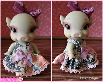pOink Tiny BJD Pastel Floral Dress by Tickled Pink by Julie
