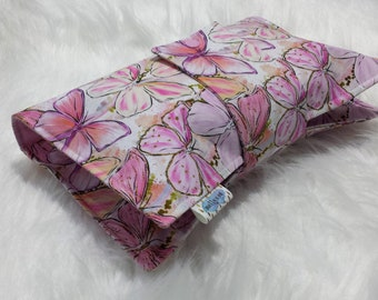 Butterfly Nappy Wallet Babyshower Gift set - Nappy Wallet and Travel Change Mat - Diaper Clutch