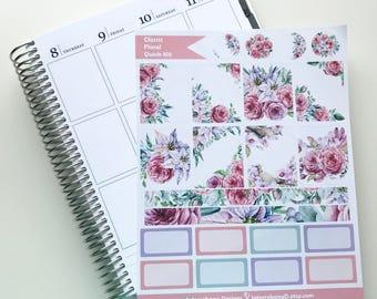 Classic Floral Quick Kit - Planner Stickers - Erin Condren - Happy Planner