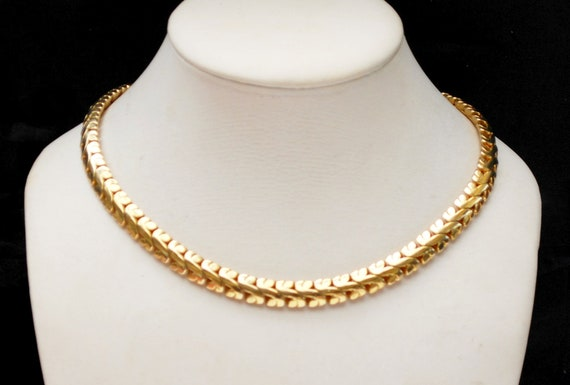 Les Bernard Gold Chain Necklace - gold plated link Choker - Gift for her