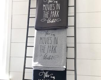 Sweatshirt Blanket - Movie In The Park Blanket Throw Blanket Grey Decorative Accent Throw Blanket Grey Throw Blanket Farmhouse Decor Summer