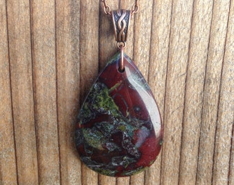 Dragon Bloodstone Pendant