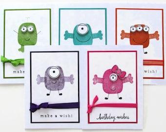 Little Monster Birthday Card, Monster Birthday Invitation (1)