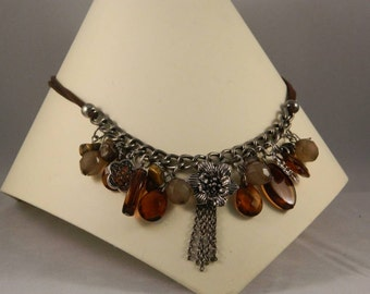 Brown earth beaded necklace
