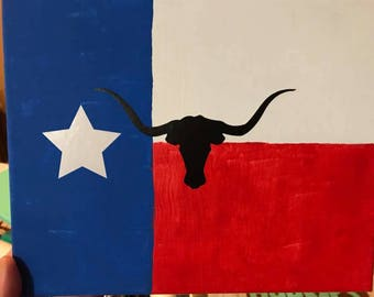 Texas Longhorn Canvas Wall art