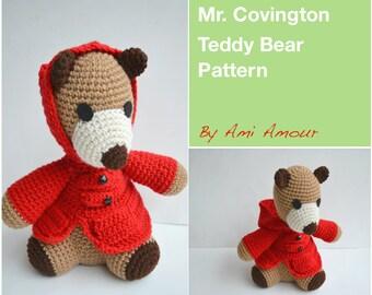 Teddy Bear Pattern Amigurumi Mr. Covington Crochet