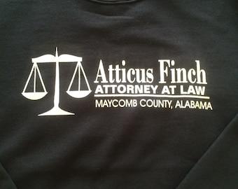 Atticus Finch Attorney at Law Hoodie or Crewneck Sweater - English Teacher Gift American Literature Men Women Kids