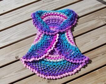 Butterfly Mandala Circle Vest