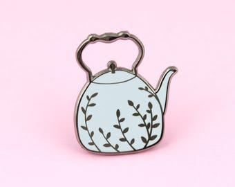 Teapot Pin   tea pin, cute pin, enamel pins, tea lover, tea enamel pin, gift for tea lovers