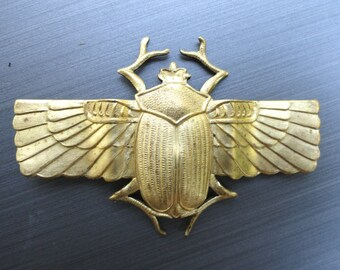 Large Winged Scarab Beetle Band (1 pc)