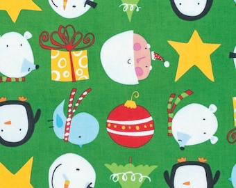 David Walker for Free Spirit - Merry Christmas! Christmas Cuties in Merry  (Half metre)