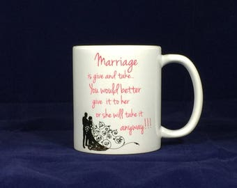 Marriage is give and take... You would better give it to her or she will take it anyway!!! - Lizard print