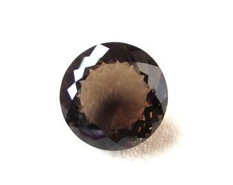 1 pieces 20mm SMOKY QUARTZ Faceted Round Loose Gemstone..... Smoky Quartz Round faceted Loose Gemstone, Smoky Faceted Round Gemstone