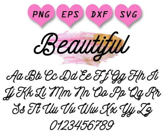 Cute Font Svg Girly Girl Handwritten