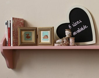 Shabby chic one tier shelf solid pine, FREE POSTAGE
