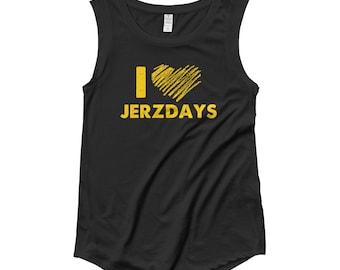 I LOVE JERZDAYS Jersey Shore Ladies' Cap Sleeve T-Shirt