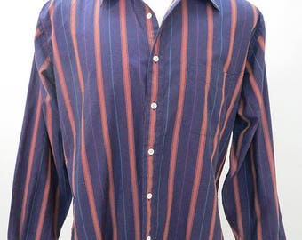 90's Striped Long Sleeve Shirt