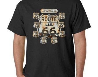 Get Your Kicks on Route 66 T-Shirt All Sizes & Colors (3024)