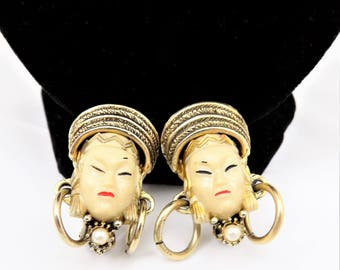Selro Selini Asian Princess Earrings, Designer Clipons