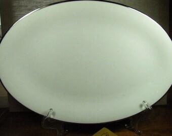 Vintage Noritake - Silverdale - Large Serving Platter - Platinum Trim