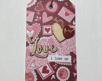 I Love Us Valentines Day Gift Tag