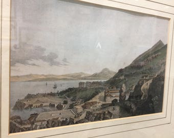 Historical Gibraltar Print by Major West, 2 in collection of 4 available