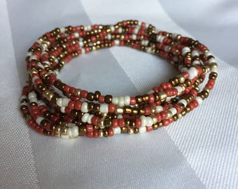 Tiny Seed Bead Multiwrap Hollywood - Tiny Seed Bead Jewelry - Multiwrap Bracelet - Multiwrap Necklace