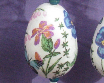 Shabby chic easter etsy decorative easter eggs floral lace shabby chic easter gifts negle Gallery