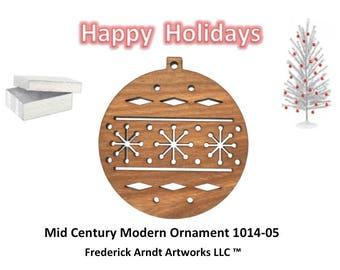 1014-5 Mid Century Modern Christmas Ornament