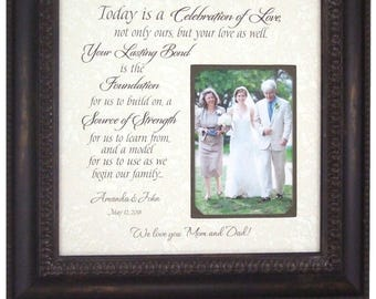 Personalized Wedding Gift for Parents, Parents Wedding Gift, Gift for Parents, Wedding Gift for Parents from Bride, 16x16