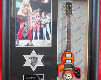 Slade Superyob Framed Miniature Tribute Guitar