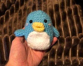 Cyan Blue Penguin
