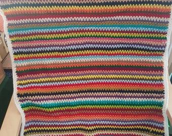 Rainbow bright baby blanket