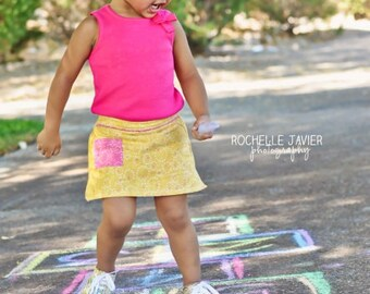 Sporty Girl Skort: Girls Skort PDF Pattern, Baby & Toddler Skort PDF Pattern