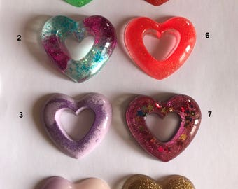 Creation in heart resin
