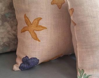"2 Decorative Throw Beach Pillow Covers 20"" X 20"""