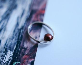 Drop 1 Ring Satin-textured Silver