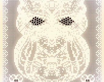 Sacred Owl Filet Crochet pattern pdf