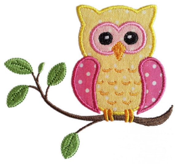 Instant download owl on the branch applique machine embroidery for Embroidery office design version 9