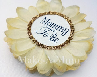 Hand-dyed YELLOW Baby Shower Pin Corsage, baby shower favors, Mommy To be Pin,Hand-dyed, Baby Shower Corsage,Grandma To Be,YELLOW/PAPER,mTB