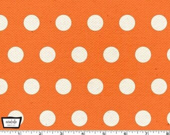 SALE - Textured Basics - Cool Dots Papaya Orange by Patty Young from Michael Miller
