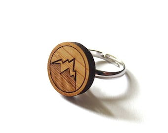 Mountain Ring. Wood Ring. Gifts Under 25. Gift for Her. Mountain Jewelry. Friend Gift. Girlfriend Gift. Mom Gift. The Mountains Are Calling.