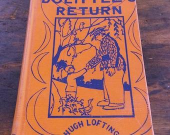 Vintage 1933 Doctor Dolittle's Return by Hugh Lofting / Second Printing