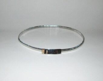 Vintage 1950s 1960s Belt / 50s 60s Silver-Tone Metal Stretch Belt