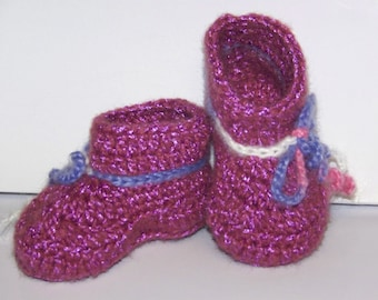 Crocheted Booties 0 to 3 Months