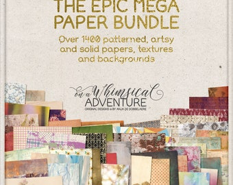 Deal, Paper Pack, Backgrounds, Textures, Mega Pack, Huge Savings, Best Value, Digital Scrapbooking, Discounted, Downloadable, Junk Journal