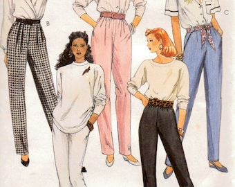 Vintage Misses' Pants Sewing Pattern McCall's 4647 Misses'  Size 10 Waist 25 inches  Complete Uncut FF