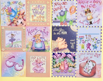Lunch Lovies, Notes for Kids, Loving Lunch notes, fun cards for kids, happy cards, happy notes,