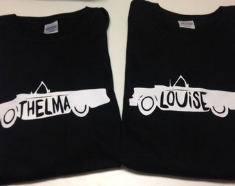 Thelma & Louise Shirt Set for Friends or Sisters